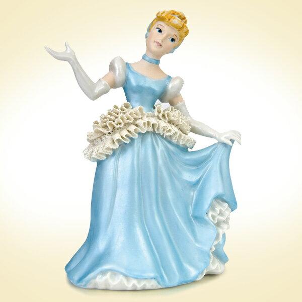 10%オフ全商品やってます ~4/22 ディズニー 人形 陶磁器製 レースドール フィギュア シンデレラ ディズニープリンセス 取寄品 3週間前後 新生活 プレゼント
