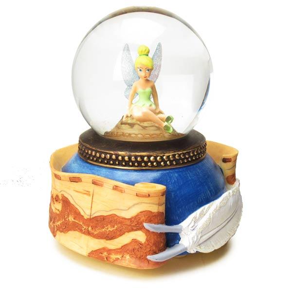 廃盤201606:オルゴール ディズニー ウォーターグローブ LED点滅 オルゴール ティンカー・ベル (ピーターパン) 新生活 プレゼント