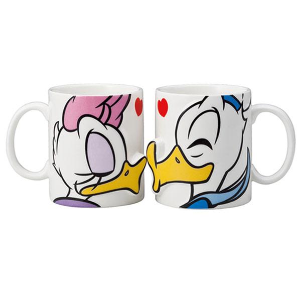 キスマグ ペアマグカップ キッス KISS 立体 ドナルド&デイジー ディズニー 新生活 プレゼント