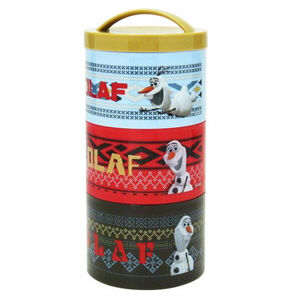 在庫限り: ボトル型3段 ランチボックス オラフ アナと雪の女王 ディズニー ランチ用品 新生活 プレゼント