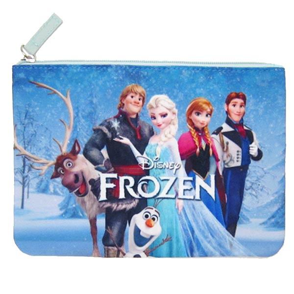 在庫限り: フラットポーチ ブルー アナと雪の女王 ディズニー ORAY 新生活 プレゼント