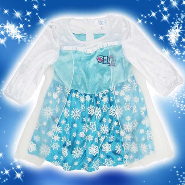 コスプレ コスチューム ディズニー 衣装 エルサ アナと雪の女王 95cm 子供用 子供服 ベビー服 ギフト プレゼント