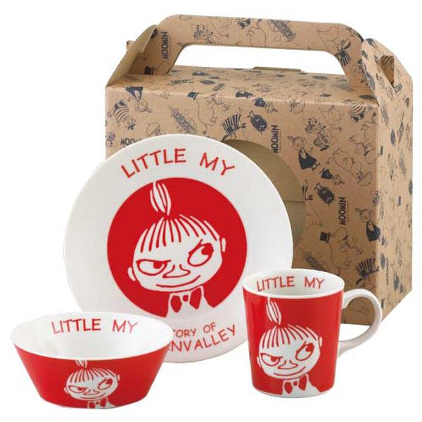 廃盤:ムーミン リトルミイ 食器3点セット ケーキ皿・ボウル・マグカップ 陶器製 かわいいキッチン用品 取寄品 3週間前後 新生活 プレゼント