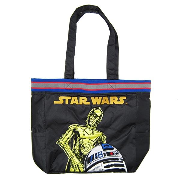 C-3PO & R2-D2 スカバッグ 手提げ トートバッグ ブラック スター・ウォーズ 新生活 プレゼント