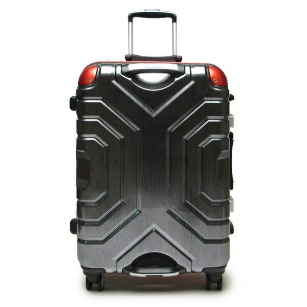 ESCAPE'S グリップマスター スーツケース キャリーバッグ トランク ヘアラインブラック レッド 58cm 旅行用品 取寄品 3週間前後 新生活 プレゼント