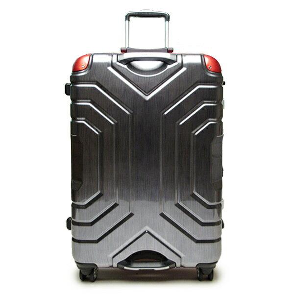 ESCAPE'S グリップマスター スーツケース キャリーバッグ トランク ヘアラインブラック レッド 67cm 旅行用品 取寄品 3週間前後 新生活 プレゼント