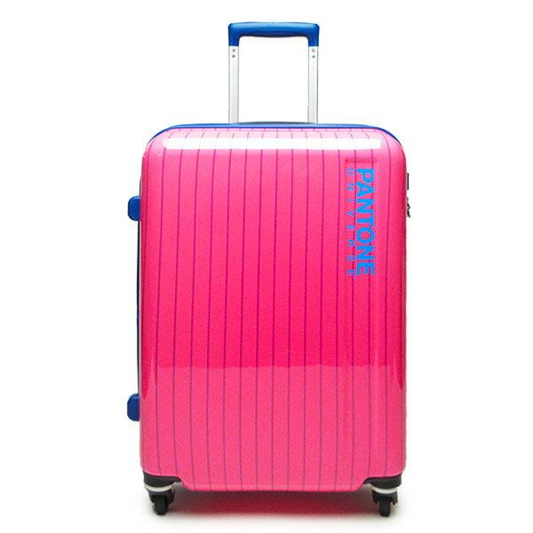 パントン ストライプ スーツケース キャリーバッグ トランク マゼンタ ブルー 55cm 旅行用品 取寄品 3週間前後 新生活 プレゼント