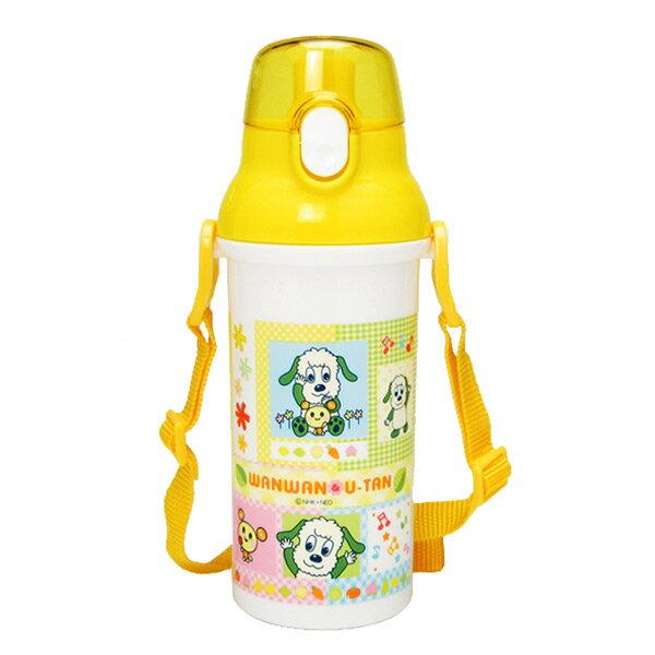 ワンワン&うーたん 食洗機対応 直飲みプラワンタッチボトル 水筒 いないいないばあっ! ランチ用品 子供用 入園準備 可愛いキャラクターグッズ 新生活 プレゼント