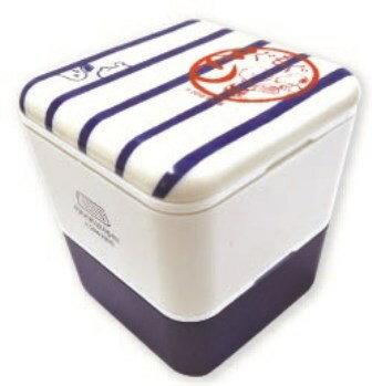 スヌーピー スクエア 2段ランチ (ランチボックス/ランチケース/弁当箱) ホワイト オノマトペ ランチ用品 (ORSN)