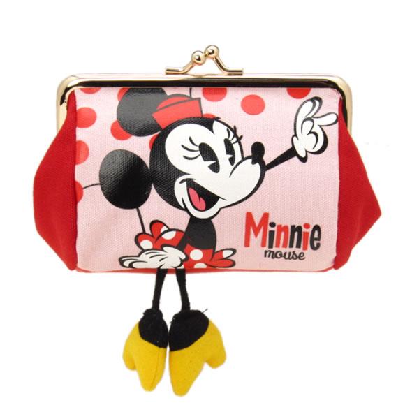 在庫限り: 口金ポーチ がまぐち ミニーマウス ミッキーショーツ ディズニー ORMC 新生活 プレゼント