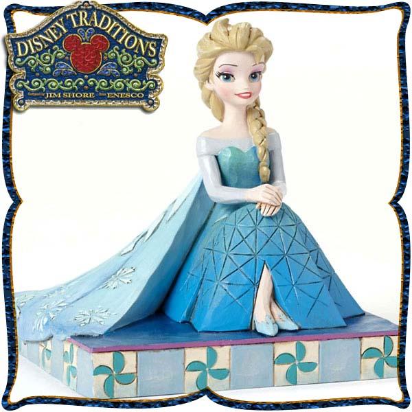 10パーセントオフ 店内全品 ~7/22 ディズニー プリンセス 木彫り調フィギュア エルサ アナと雪の女王 「Be Yourself Elsa Personality Pose 」 ディズニー・トラディション
