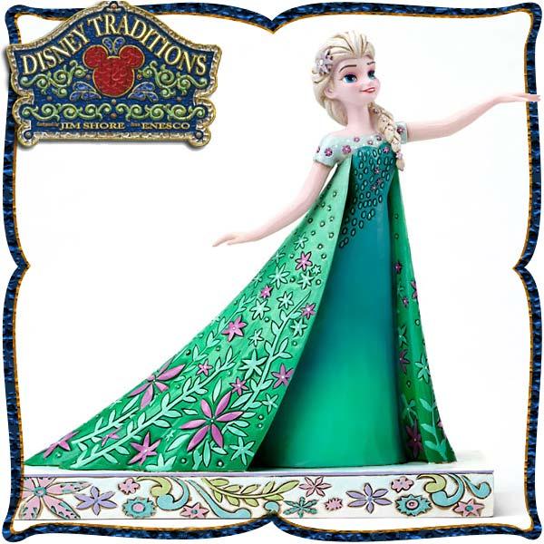 ディズニー プリンセス 木彫り調フィギュア エルサ アナと雪の女王 「Elsa from Frozen Fever」 ディズニー・トラディション 新生活 プレゼント