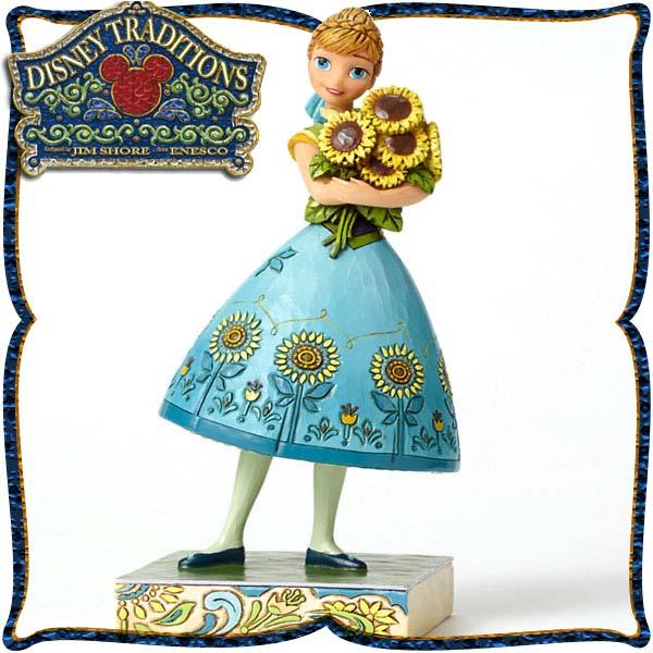 ディズニー プリンセス 木彫り調フィギュア アナ アナと雪の女王 「Anna from Frozen Fever」 ディズニー・トラディション 新生活 プレゼント