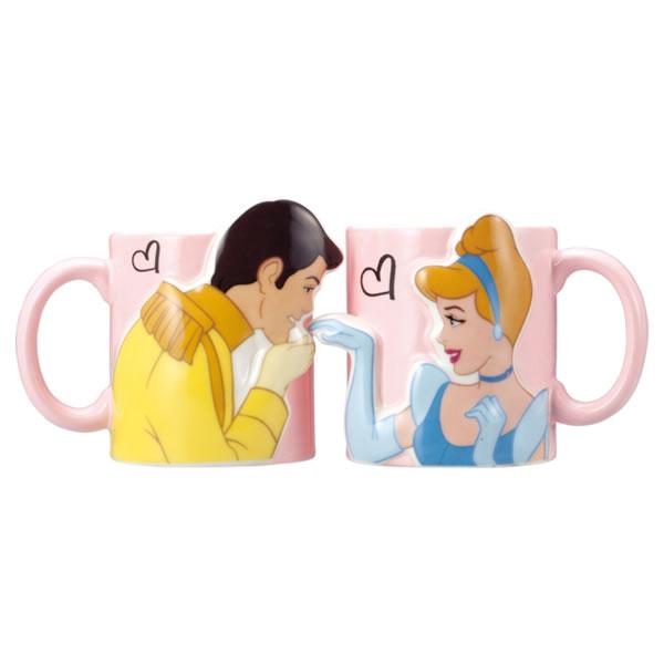 シンデレラ キスペアマグ マグカップ 立体 ディズニープリンセス 新生活 プレゼント
