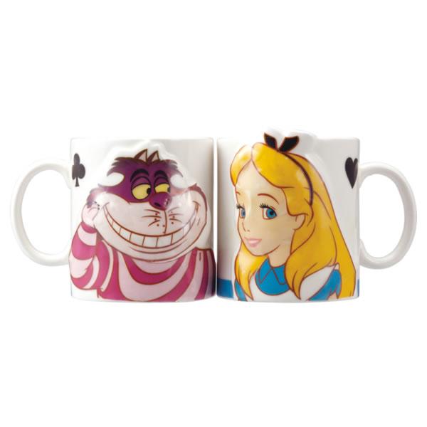 アリス&チェシャ猫 ペアマグ マグカップ 立体 ふしぎの国のアリス ディズニー