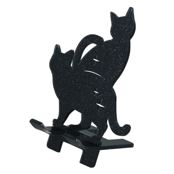 10%オフ全商品やってます ~4/22 黒猫 スマートフォンスタンド スマホスタンド ブラック インテリア用品 取寄品 3週間前後 新生活 プレゼント