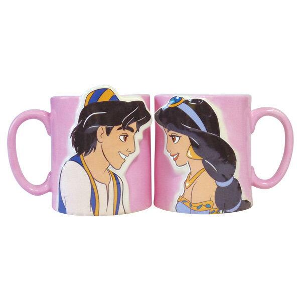 アラジン キスペアマグ マグカップ 立体 ディズニープリンセス 新生活 プレゼント