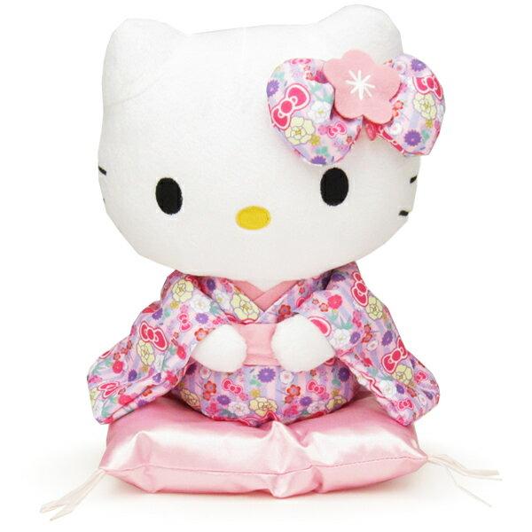 10%オフ全商品やってます ~4/22 在庫限り: ぬいぐるみ キティ M 座り ピンクラベンダー 着物 カワイイジャパン×ハローキティ 新生活 プレゼント