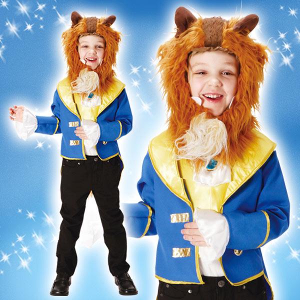 ディズニー コスチューム 子供 男の子用 Lサイズ ビースト 美女と野獣 ヘッドピース付 仮装 野獣 新生活 プレゼント