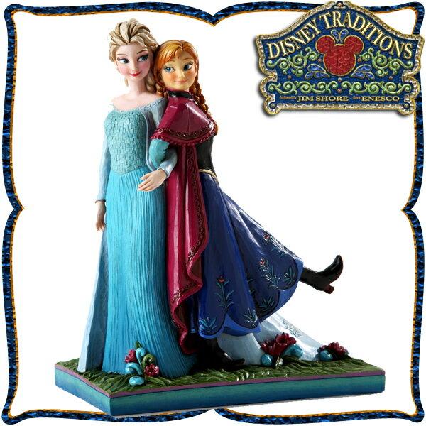 10%オフ全商品やってます ~4/22 ディズニー プリンセス 木彫り調フィギュア アナ エルサ (アナと雪の女王) 「Anna and Elsa From FROZEN」 ディズニー・トラディション 新生活 プレゼント