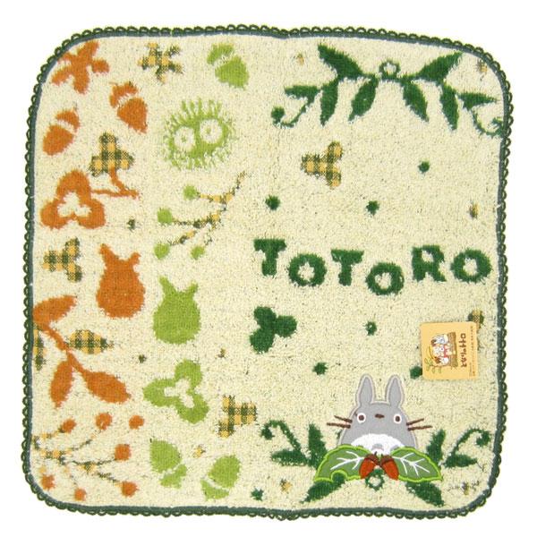 ミニタオル アイボリー 森のめぐみ トトロ となりのトトロ スタジオジブリ 新生活 プレゼント