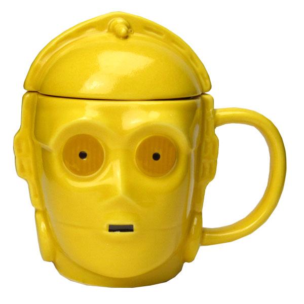 C-3PO 3Dマグカップ 蓋付きマグ フェイス STAR WARS スター・ウォーズ 新生活 プレゼント