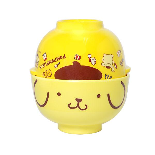 ポムポムプリン メラミン茶わん & 汁わんセット お椀 飯椀 キッチン用品 新生活 プレゼント