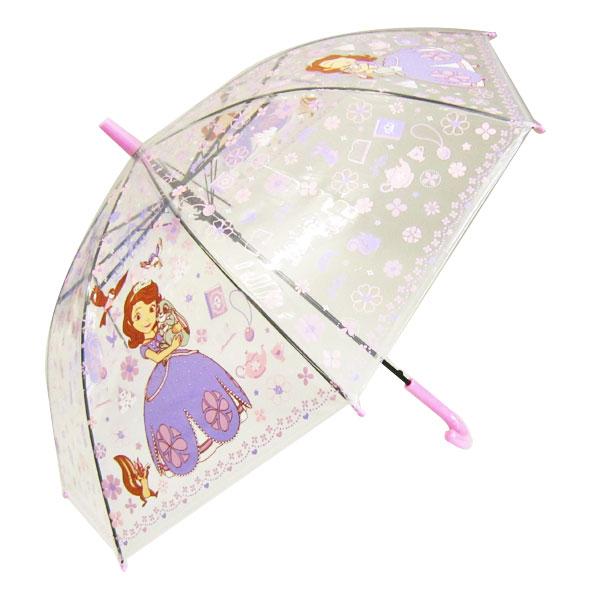 ソフィア ビニール傘 傘 かさ 50cm ピンク ちいさなプリンセスソフィア ディズニー 雨具 新生活 プレゼント