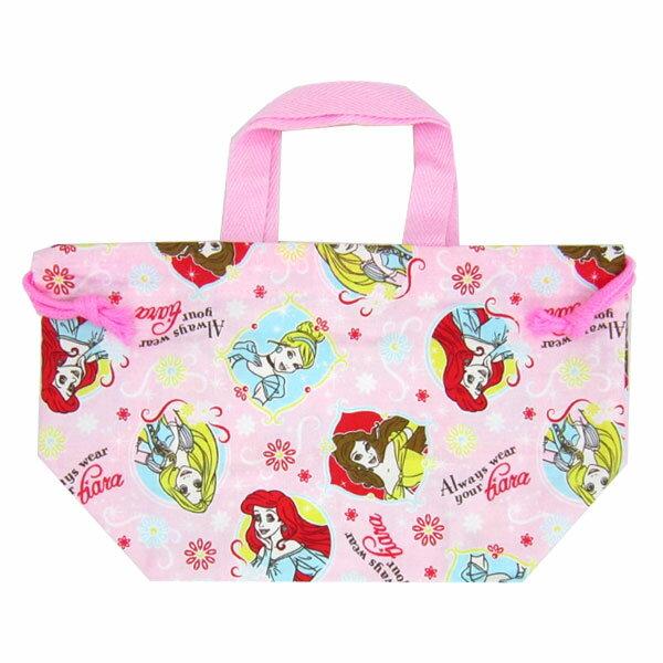 入園準備 プリンセス ランチ巾着 きんちゃく袋 お弁当袋 ディズニー ランチ用品 入園準備 可愛いキャラクターグッズ 新生活 プレゼント