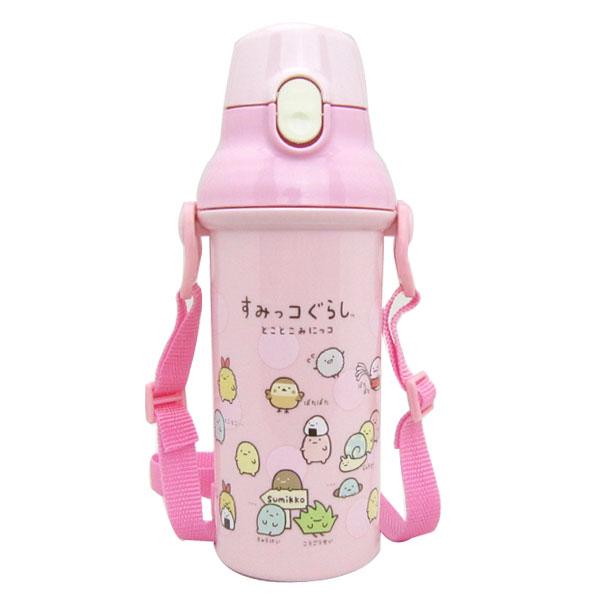 入園準備 すみっコぐらし みにっコ 食洗器対応 直飲みプラワンタッチボトル 水筒 子供用 可愛いキャラクターグッズ 新生活 プレゼント