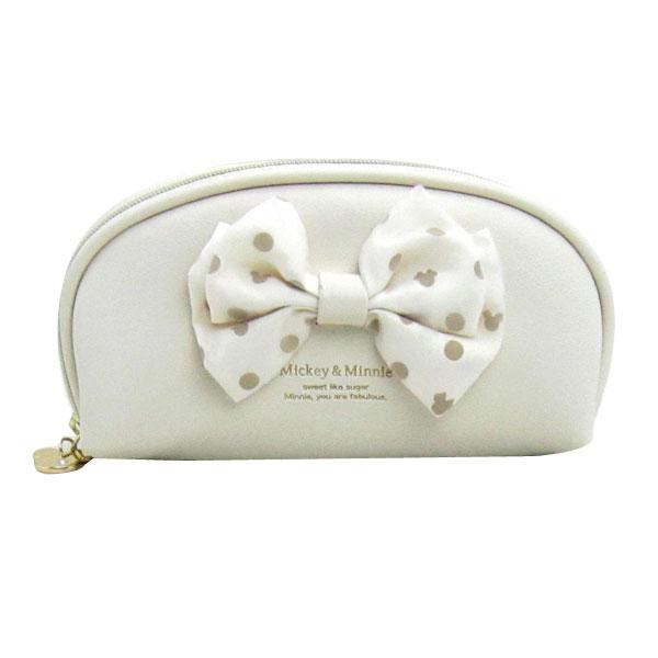 ミッキーマウス&ミニーマウス メガネケース めがねケース 眼鏡入れ ホワイト ミツマルリボン ディズニー ORMM