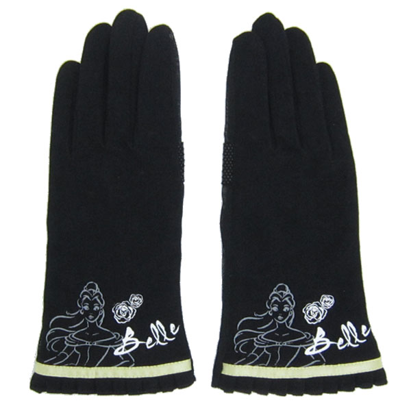 10%オフ全商品やってます ~4/22 ベル 婦人UV手袋 UVカット手袋 美女と野獣 ディズニープリンセス 新生活 プレゼント