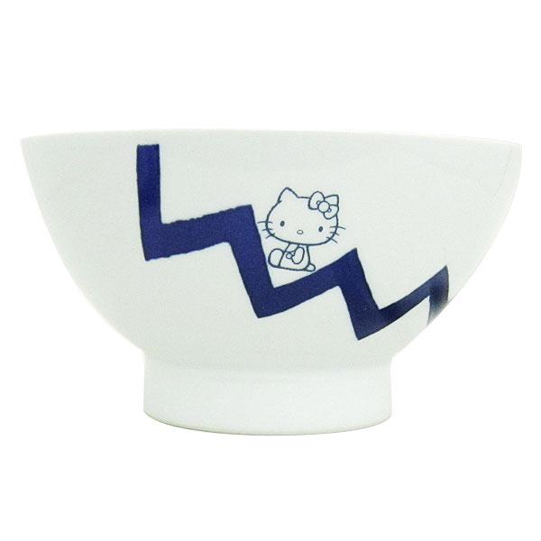 ハローキティ ヒメバチ お椀 鉢 食器 ぎざぎざ くらわんか 波佐見焼き 日本製 キッチン用品 ORKT