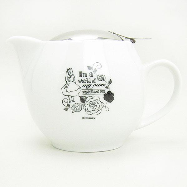 ALICE×ZERO JAPAN アリス ティーポット ポット ホワイト ふしぎの国のアリス ディズニー キッチン用品 ORHA 新生活 プレゼント 母の日 ギフト プレゼント
