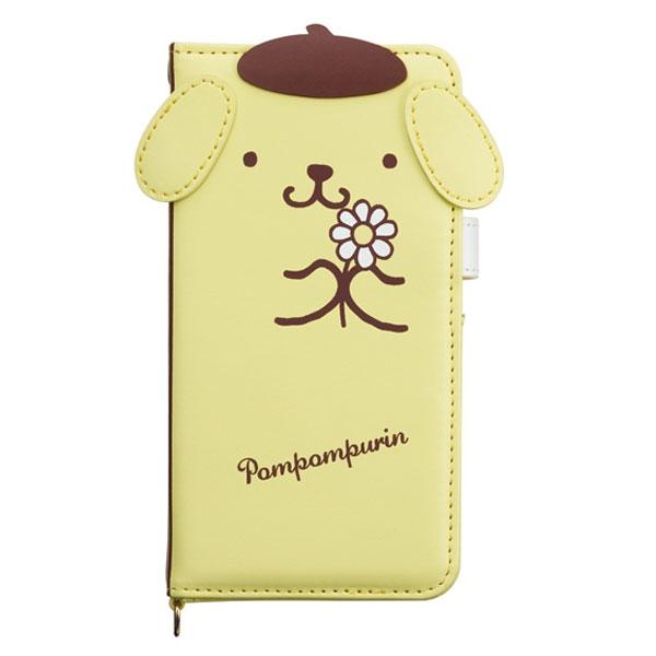 ポムポムプリン ダイカットカバー 手帳型 アイフォンケース iPhone7 4.7インチ専用 マフィン モバイル用品 新生活 プレゼント