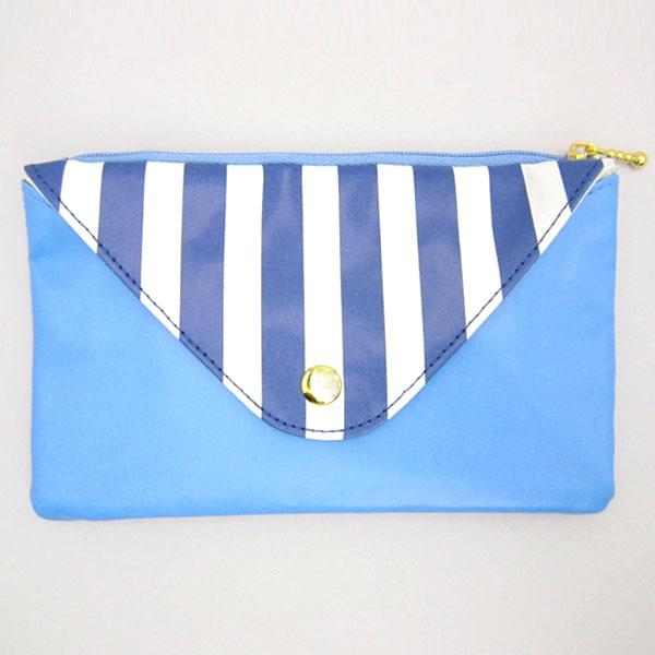 ムーミン 封筒型ペンポーチ ペンケース 筆入れ 小物入れ ブルー 新生活 プレゼント