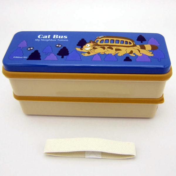 ネコバス シリコン製シールブタ2段ランチボックス 弁当箱 ランチボックス となりのトトロ スタジオジブリ ランチ用品 入園準備 可愛いキャラクターグッズ 新生活 プレゼント