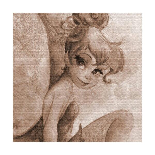 ファブリックパネル ディズニープリンセスシリーズ ティンカーベル アンティーク調 アートデリ インテリア 取寄品 3週間前後 新生活 プレゼント