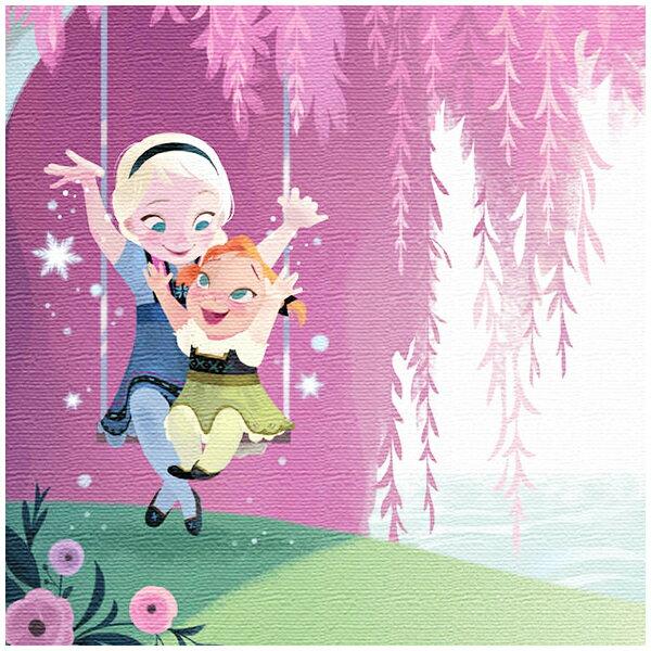 ファブリックパネル エルサ&アナ ブランコ 思い出 アナと雪の女王 アートデリ インテリア 取寄品 3週間前後 新生活 プレゼント
