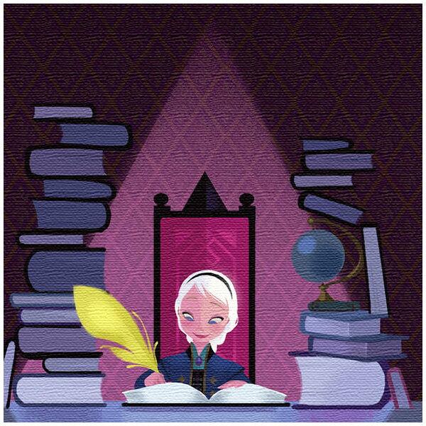 ファブリックパネル エルサ デスク アナと雪の女王 パープル ディズニー プリンセスシリーズ アートデリ インテリア 取寄品 3週間前後 新生活 プレゼント