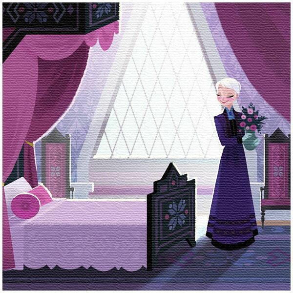 ファブリックパネル エルサ ルーム パープル アナと雪の女王 ディズニー プリンセスシリーズ アートデリ インテリア 取寄品 3週間前後 新生活 プレゼント