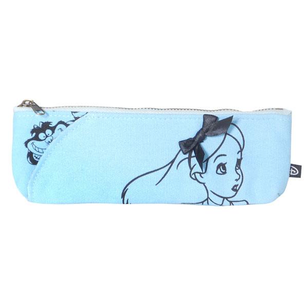 アリス ペンケース ペンポーチ ブルー キャンバスアート 不思議の国のアリス ディズニー 新生活 プレゼント