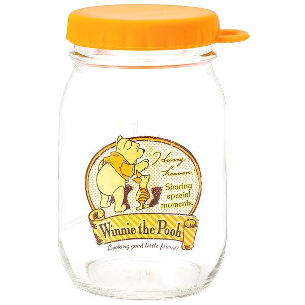 プーさん ヴィンテージ・ジャー グラス 保存容器 保存びん オレンジ くまのプーさん ディズニー キッチン用品 ギフト プレゼント