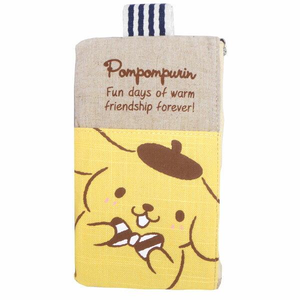 在庫限り: ポムポムプリン ペンケース ペンポーチ ポケット付 ORPP 新生活 プレゼント