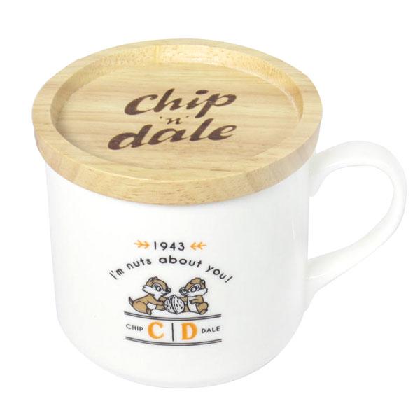 チップ&デール 木蓋つきマグ フタ付マグカップ ホワイト ヴィンテージ ディズニー ORCD 新生活 プレゼント