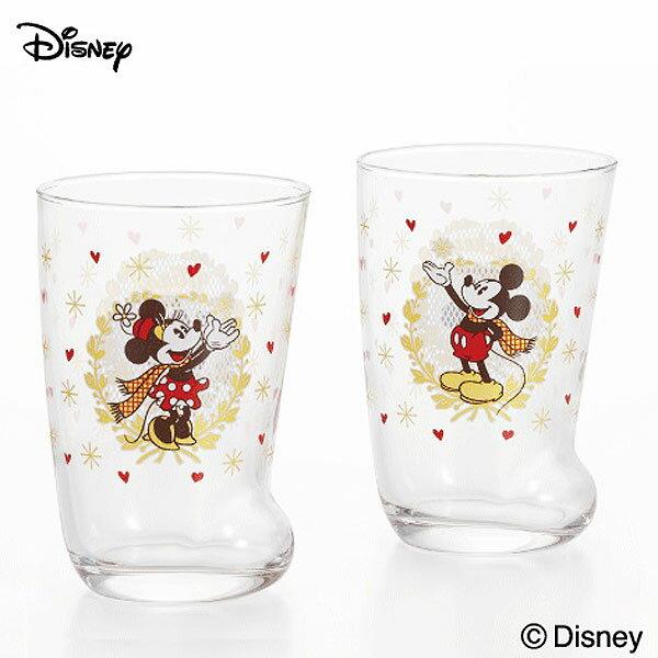 ミッキーマウス&ミニーマウス ソックスグラスペア グラス コップ 2個セット ディズニー