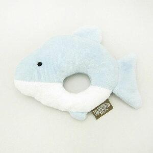 イルカ やわらかどうぶつラトル ガラガラ ブルー ベビー用品(MCD)
