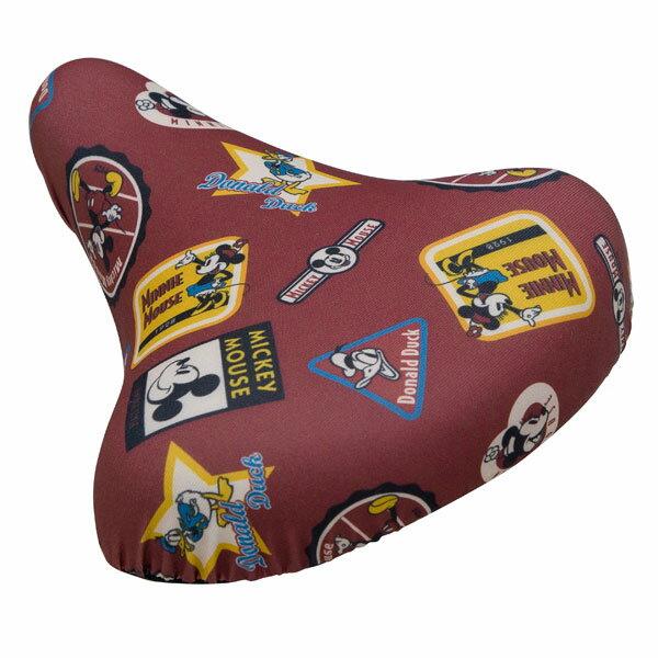 ミッキーマウス チャリCAP スナップ付 自転車用 サドルカバー・サドルキャップ ミッキーフレンズ ヴィンテージ ディズニー