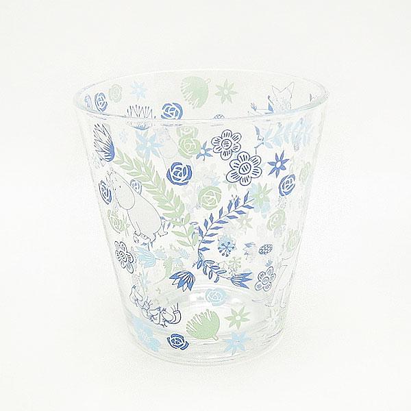 ムーミン テーパータンブラー グラス・コップ ブルー フラワートレイル キッチン用品 新生活 プレゼント