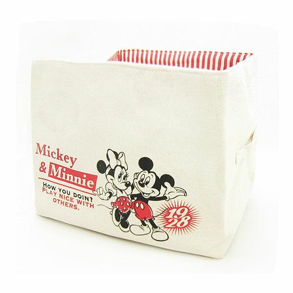 10%オフ全商品やってます ~4/22 ミッキーマウス & ミニーマウス キャンバスストレージ 収納ボックス 収納ケース ディズニー インテリア用品 新生活 プレゼント
